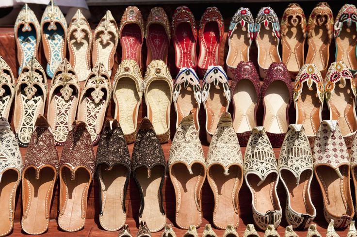 Arab style traditional shoes at Bur Dubai Souq UAE - Lonely Planet