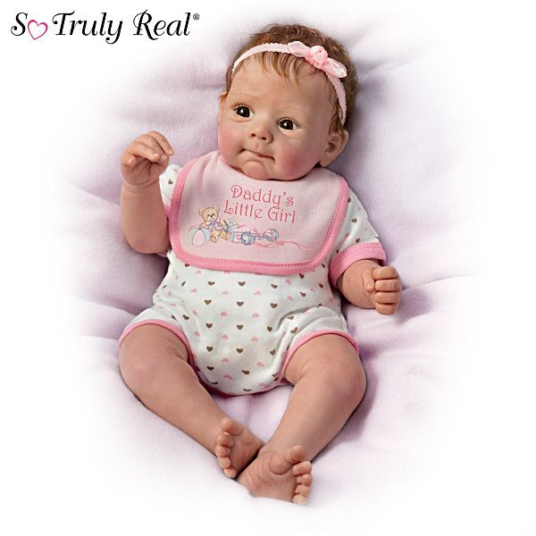 Daddy's Little Girl Baby Doll I have be waiting a ling time for a doll to, jump off the screen, so to speak. Does she no just make you smile with delight?