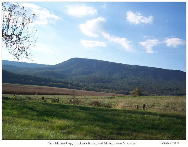 Massanutten Mountain (elevation all of 2922 feet) in Virginia. Beautiful? Yes. Mountain? Hmmm...