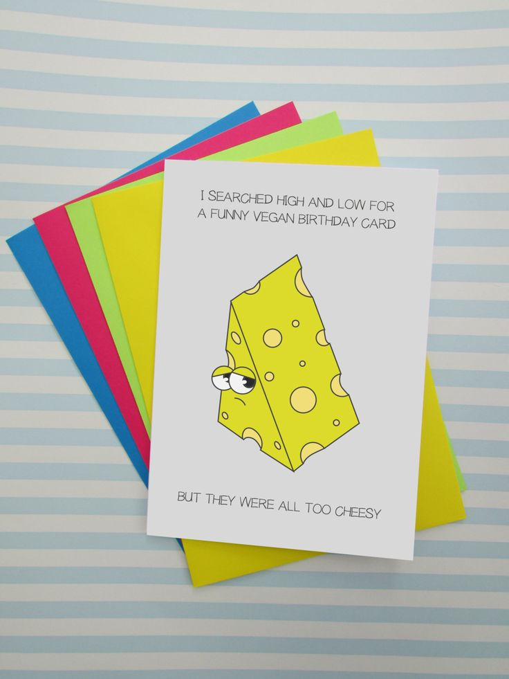 funny wedding card messages for friends%0A Funny Vegan Birthday Card  Cheesy Puns  Vegan Jokes  Alternative Happy  Birthday Card for