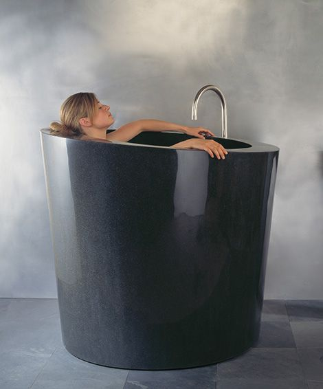 New Tall Soaking Tub from Stone Forest - enjoy deep relaxation!