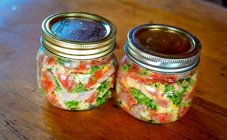 Wild salmon ceviche made with fermented lemons, parsley and onions. Learn how to prepare healthy foods and save time on my nutrition bootcamps