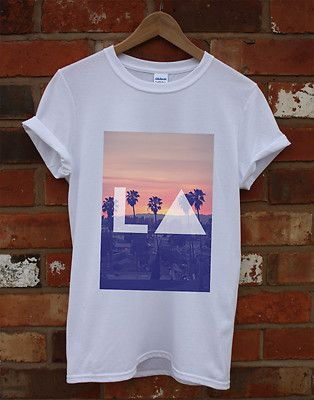 LA LOS ANGELES HIPSTER SKATE BAGGY INDIE SWAG TOP TRIANGLE T SHIRT MEN WOMEN KID ($15.28) - Svpply