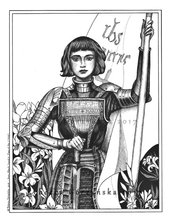 St Joan Of Arc Feast Day May 30 Catholic Coloring Page