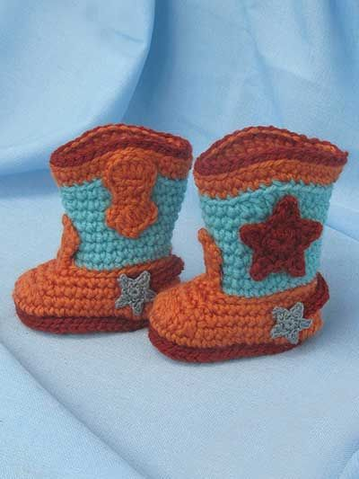 Free Crochet Pattern For Newborn Cowboy Boots : 17 Best images about Crochet Baby Bootie Patterns on ...