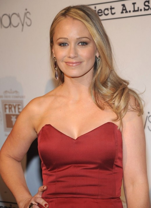 Christine Taylor in Red, Macy,s