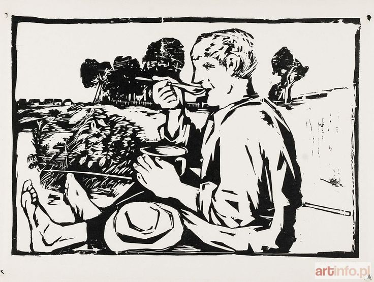Jerzy PANEK ● Rybak, 1954 ●