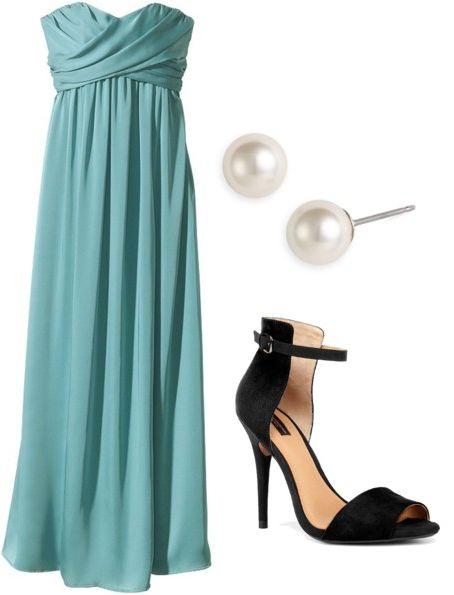 long dress earrings pearl