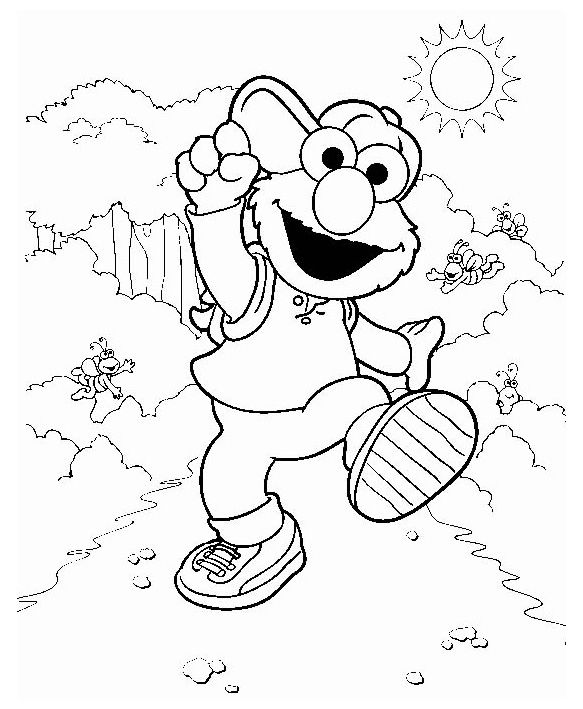 elmo and friends coloring pages | Elmo Coloring Pages For Kids Printable | Für Johanna ...