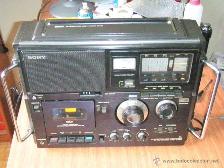 RADIO CASSETTE SONY MULTIBANDAS CF950S FUNCIONANDO