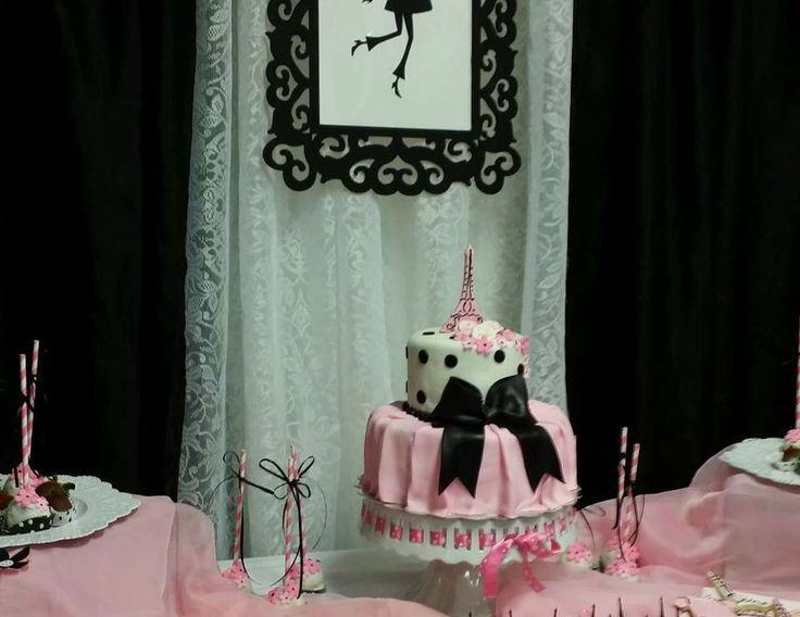 """French / Parisian / Baby Shower """"Bébé Rylee"""" 