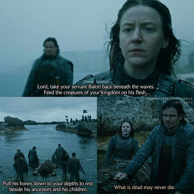 Euron kept his promise... He killed Balon. The last of the 5 kings is dead. What is dead may never die. --- #yaragreyjoy #gemmawhelan #ironislands #gameofthrones