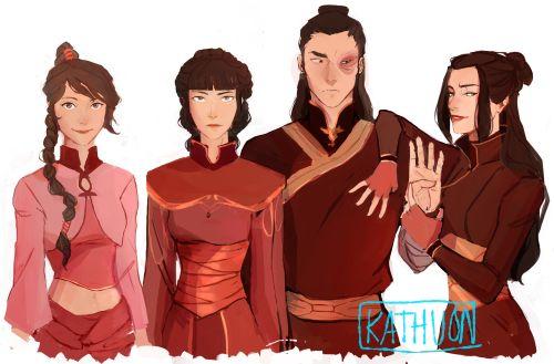 Older Ty Lee, Mai, Zuko and Azula