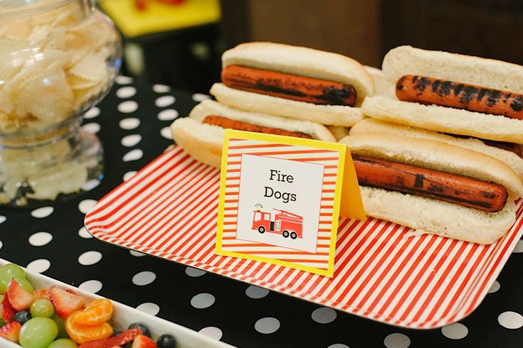 "sound the alarm!  ""fire fighter"" themed birthday party. Jacyln Clayton Photography. Lindsay Arneson Creative paper details & invitations"