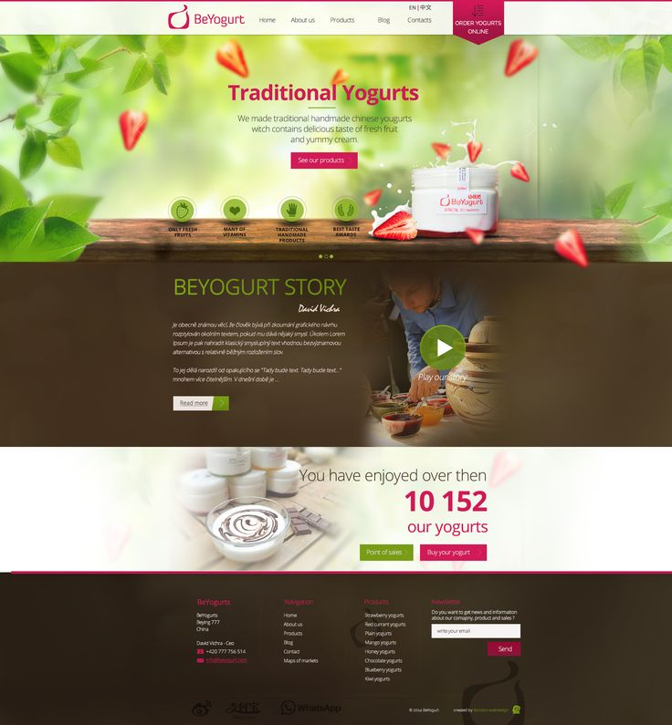 Webdesing of BeYogurt