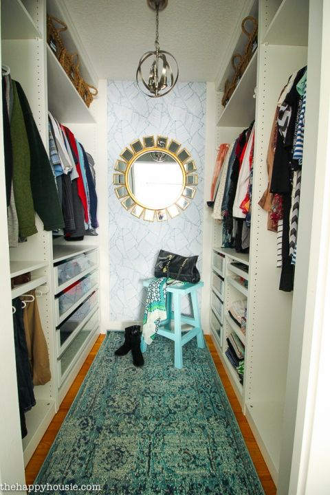 Small Walk In Closet Makeover Reveal With Ikea Pax