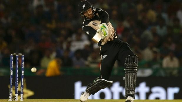 Martin Guptill opens the shoulders again during his innings of 80 from 48 balls in the World T20 match against Pakistan.