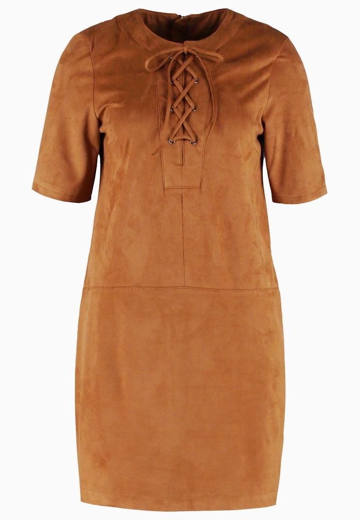 Vero Moda VMSAY CREME  Sukienka letnia cognac