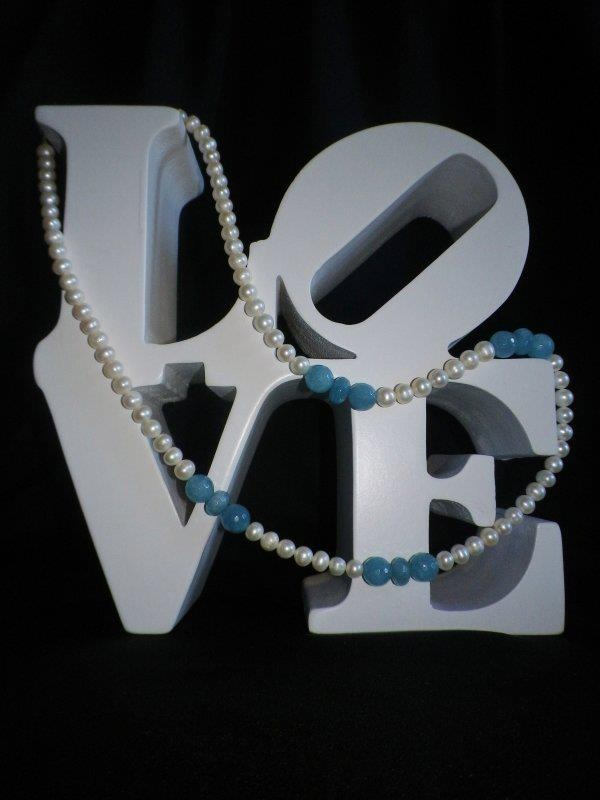 Freshwater Pearl & Amazonite Gemstone Necklace:  http://www.facebook.com/ZadiaDesigns