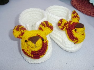 Baby tiger booties only at  www.amydesign,org