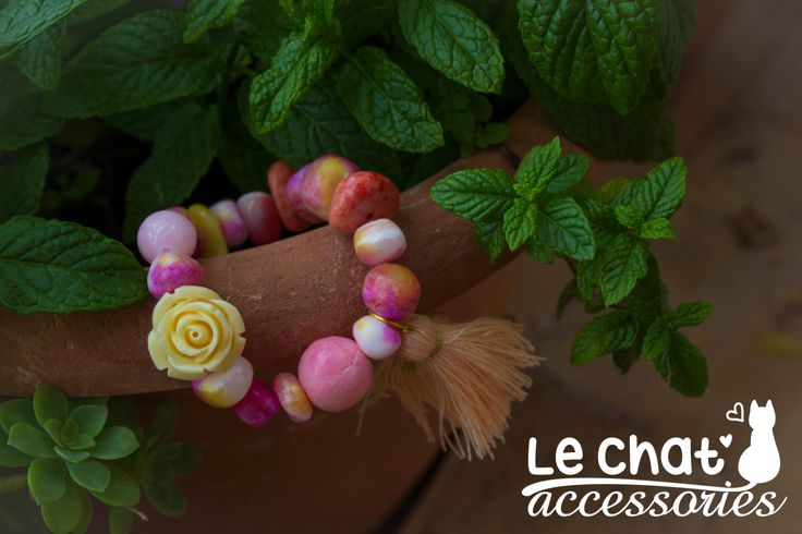 Handmade Bracelet  © Danae Lolou  Find me on Facebook & Instagram : Le Chat Accessories for more photos. https://www.facebook.com/lechataccessoriesdanae/  https://www.instagram.com/lechataccessories/
