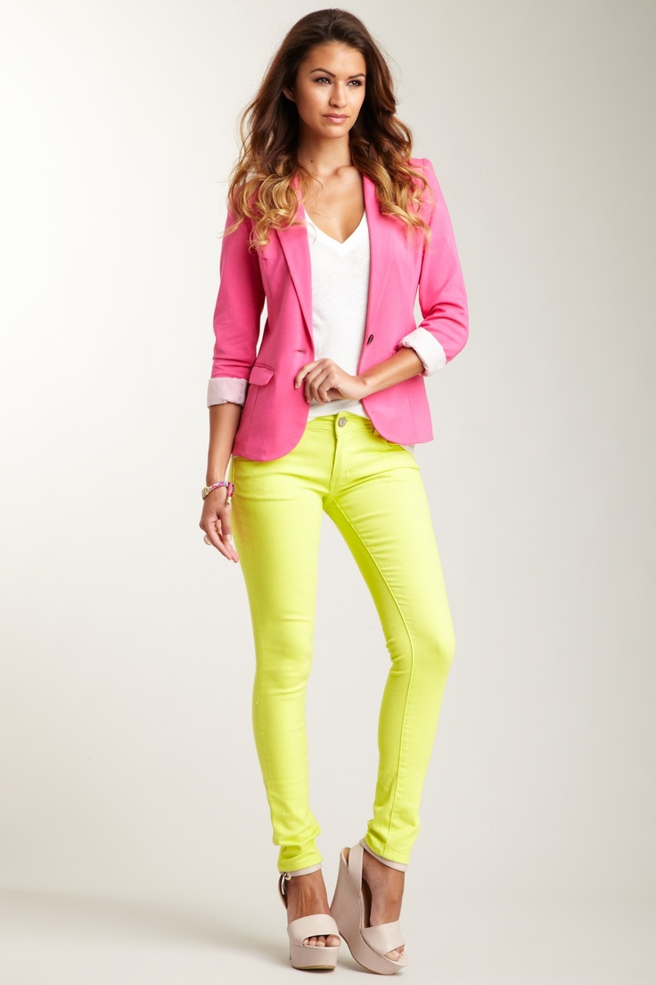 neon yellow pants mis colores favoritos