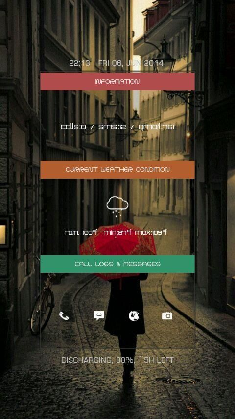 [Homepack Buzz] Check out this awesome homescreen! Manish kumar   Minimal  Streets of Paris in rain