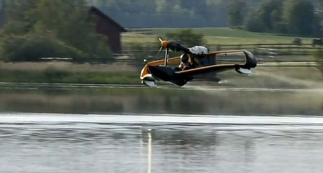 FlyNano has posted video of its electric microlight aircraft's first test flight.