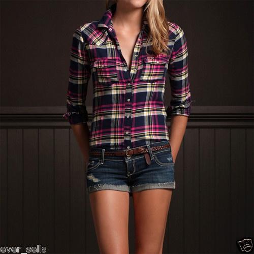 410 best Women Plaid Shirts images on Pinterest | Flannel ...