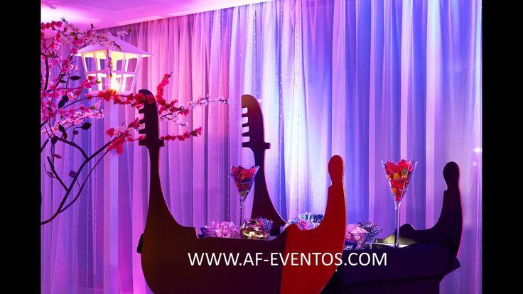 Mesa de dulces en forma de Góndola e ingreso especial para los invitados @AF Eventos