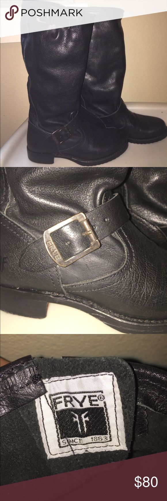 Black Frye Riding Boots Maybe worn once or twice, still has that new shoe smell! The zippers work, authentic Frye boots! Questions? Let me know :) Price is firm. Frye Shoes Over the Knee Boots