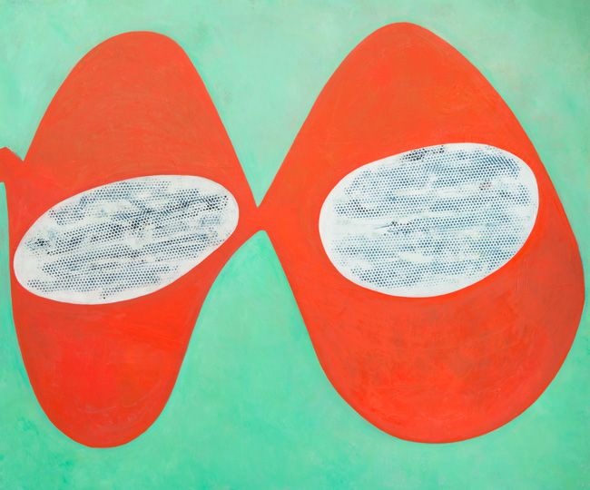 Double Trouble, 2012, oil on wood, 30 x 40 inches
