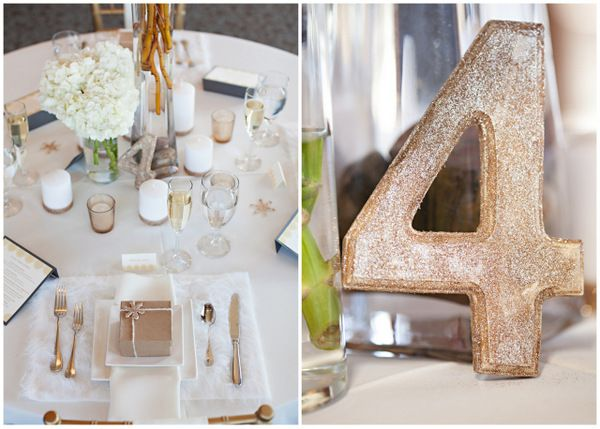 Wintery tablescape by Design By Occasion