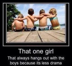 That's me, it's how I met my bestie. Me and her where the only girls at the birthday party. :)