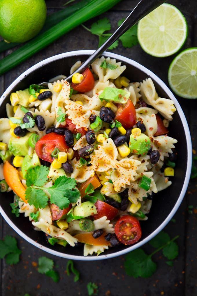 Vegan Southwestern Pasta Salad #vegan #vegetarianrecipes http://ncnskincare.com/