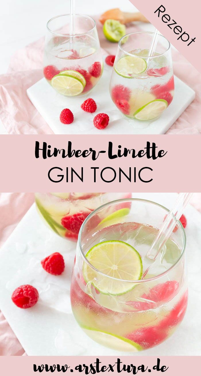 Sommerlicher Himbeer-Limette Gin Tonic