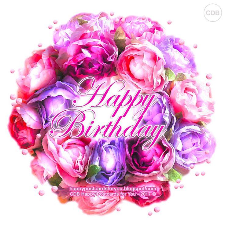 Greeting card 🌼🌸🌺 Wishing you a beautiful day. HAPPY