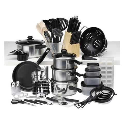 homemaker 80 piece kitchen starter set kmart my home. Black Bedroom Furniture Sets. Home Design Ideas