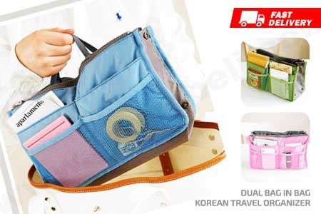 Dual Bag in Bag Korean Travel Organizer Double Zipper murah hanya Rp 34.990 https://www.groupbeli.com/view.php?id=903