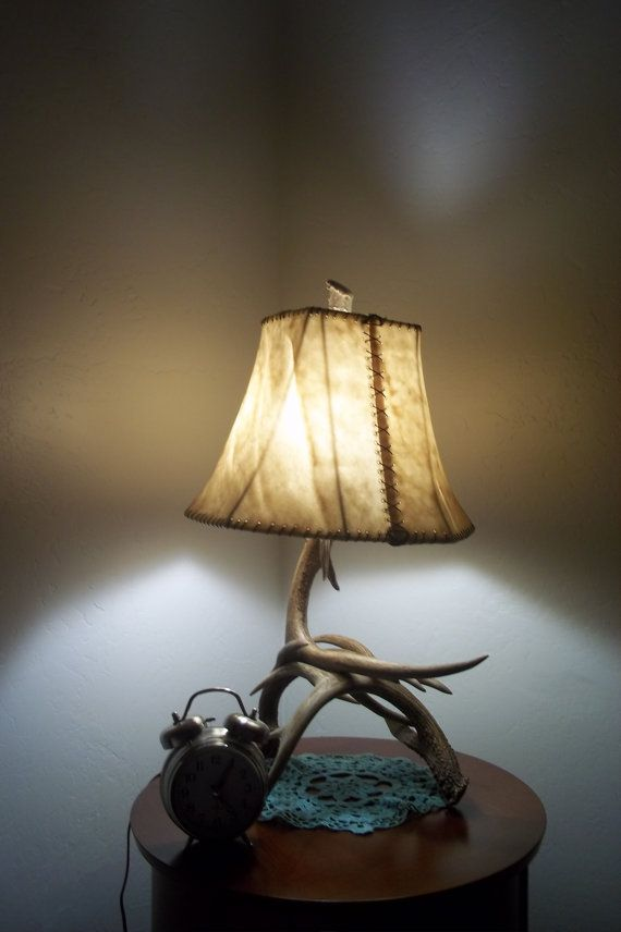 Real Antler Table Lamp Great for bedside table or even by ...