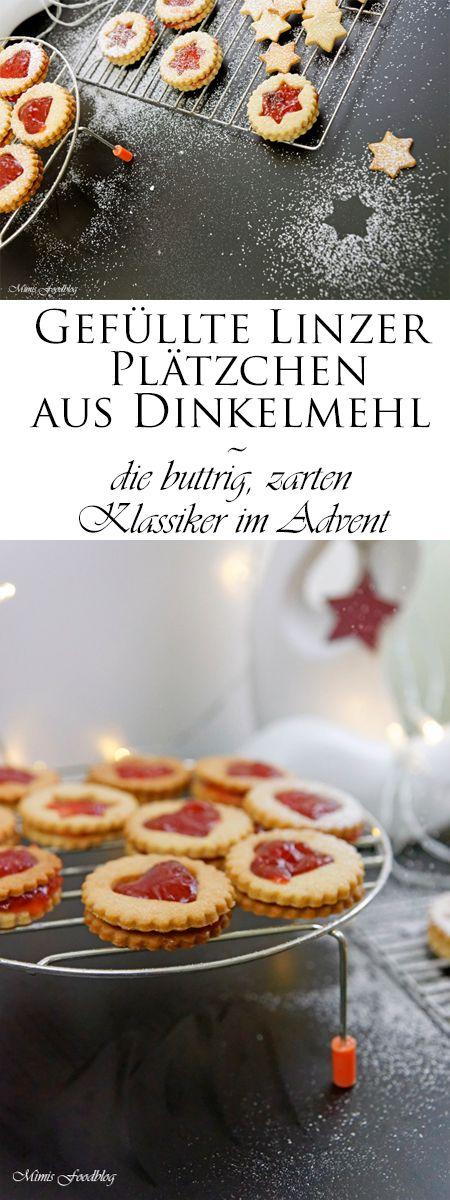 Gefüllte Linzer Plätzchen aus Dinkelmehl, sie dürfen auf keinem Plätzchenteller fehlen, denn sie sind für mich die buttrig, zarten Klassiker im Advent.