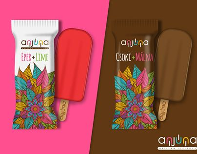 "Check out new work on my @Behance portfolio: ""Anjuna ice cream logo and packaging design"" http://on.be.net/1Qastil"