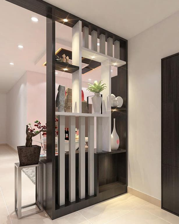 35 Most Beautiful And Creative Partition Wall Design Ideas Engineering Discoveries Gaya Ruang Tamu Desain Interior Desain Partisi Ruang Tamu Beautiful foyer living room divider