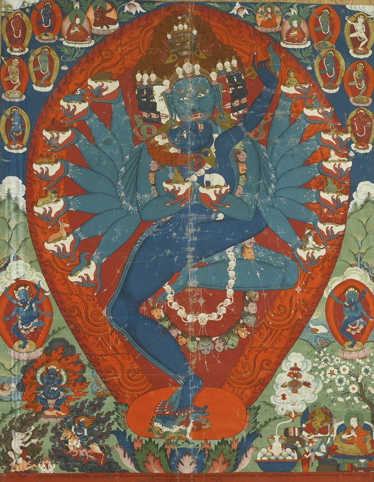 A THANGKA DEPICTING HEVAJRA AND CONSORT TIBET, MID-19TH CENTURY | lot | Sotheby's