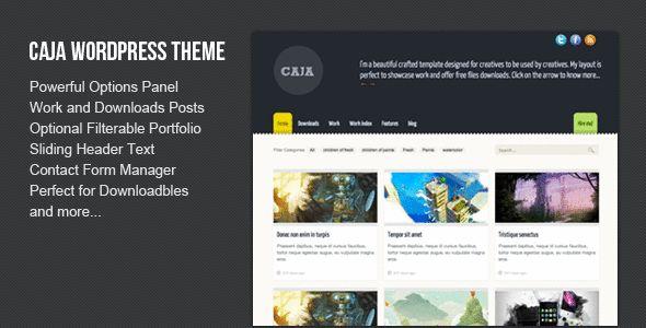 Премиум тема для WordPress Caja
