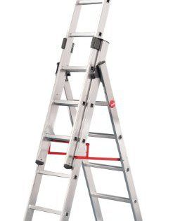 Hailo ProfiStep Échelle Charge maximale 150 kg Capacity Combination Ladder 2 x 6 échelons + 1 x 5 échelons: Échelle antidérapante en…