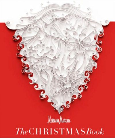 Stunning quilled santa claus beard by the renowned yulia for Neiman marcus christmas cards