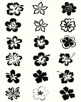 Hibiscus flower design chart