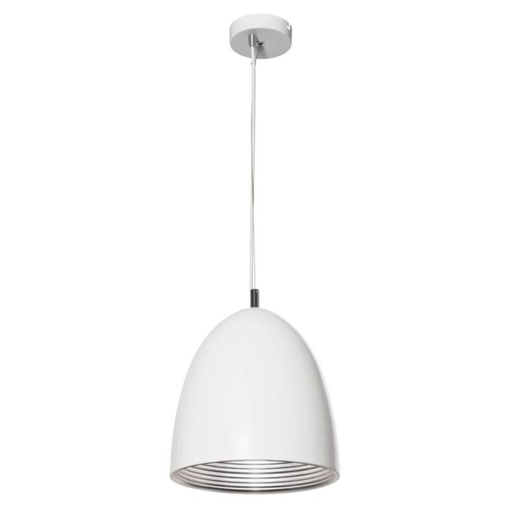 Mort Bay Cone Pendant Lamp White With Silver - Masters Home Improvement