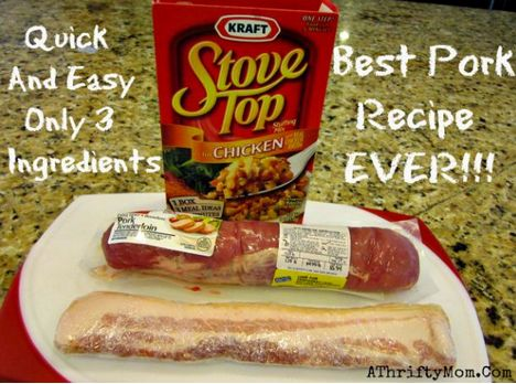 stove top stuffed pork loin, SUPER easy recipe only need 3 things to make it and it is amazing!